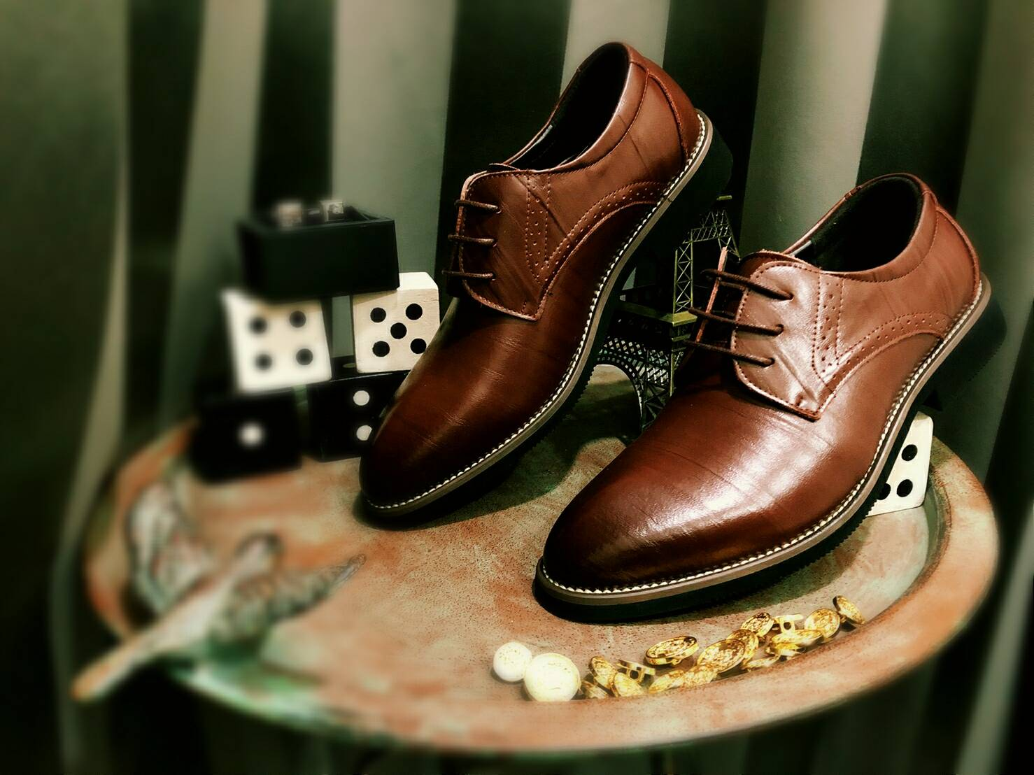 壹西服 紳士皮鞋 真皮
